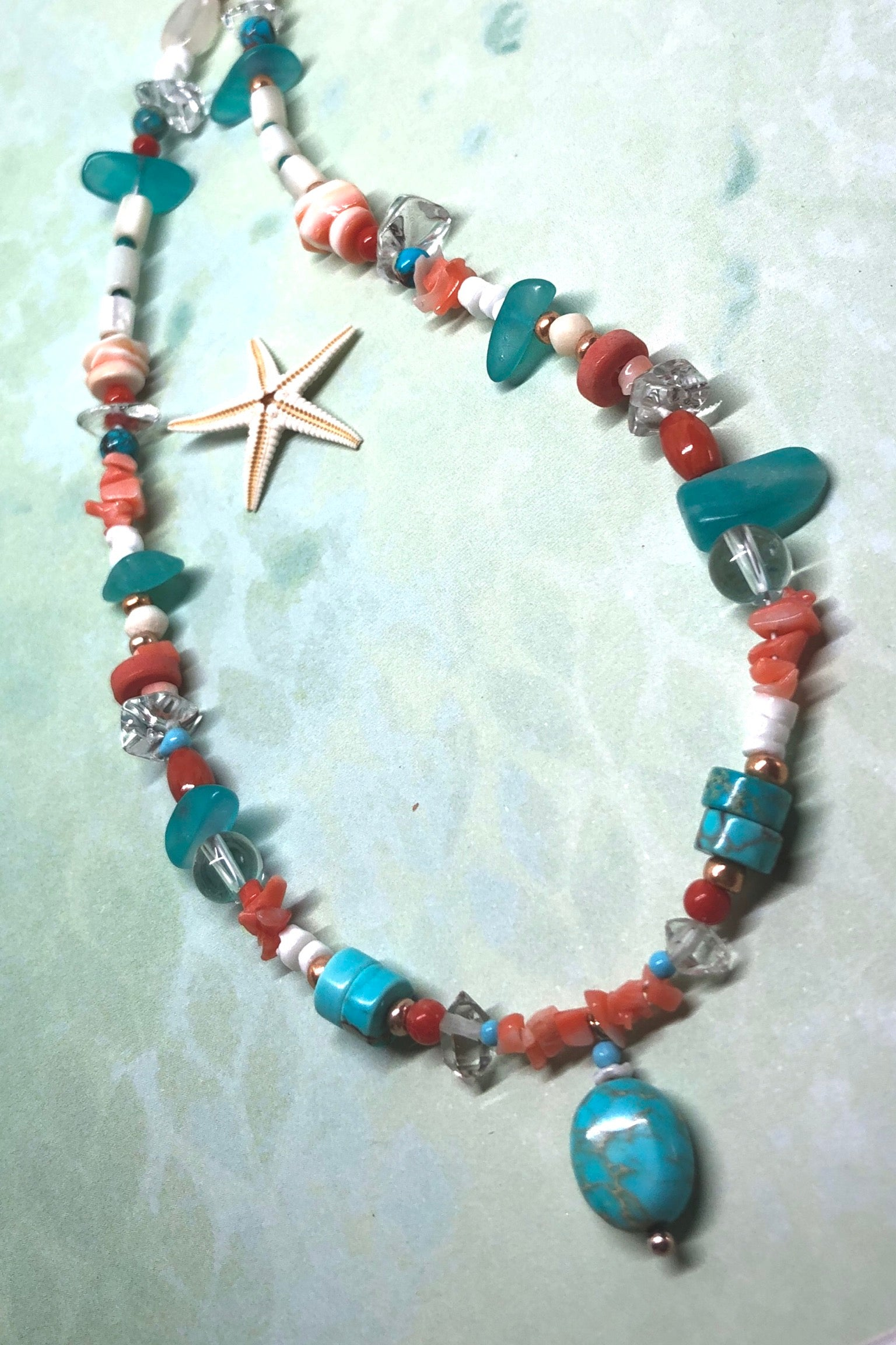 This necklace is a one off piece, the stones are all natural semi precious gems,