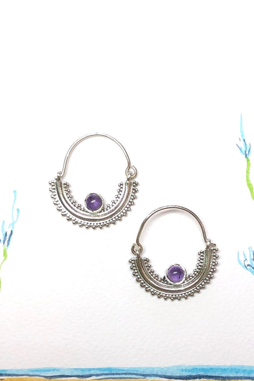 Oracle Earring Orb Half Hoop in 925 Silver