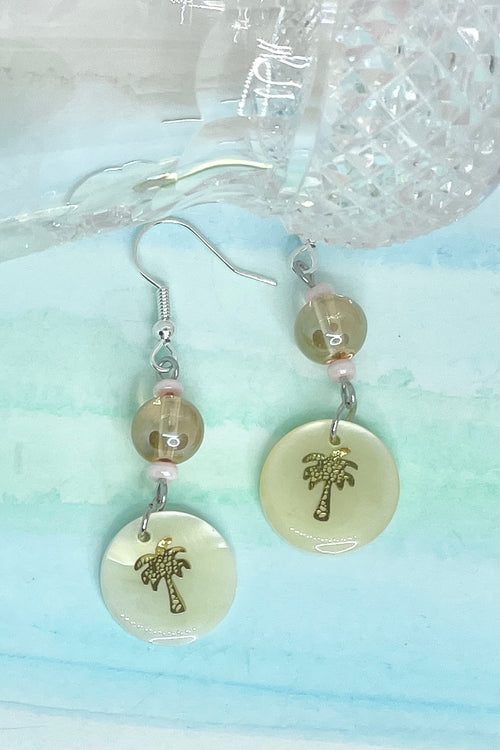 Earrings Serendipity Palm Tree Gold