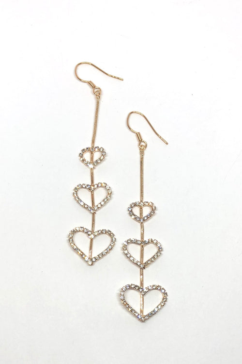 Earrings Magical Golden Hearts