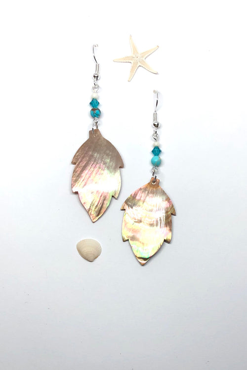 Earrings High Tide Shell Leaf