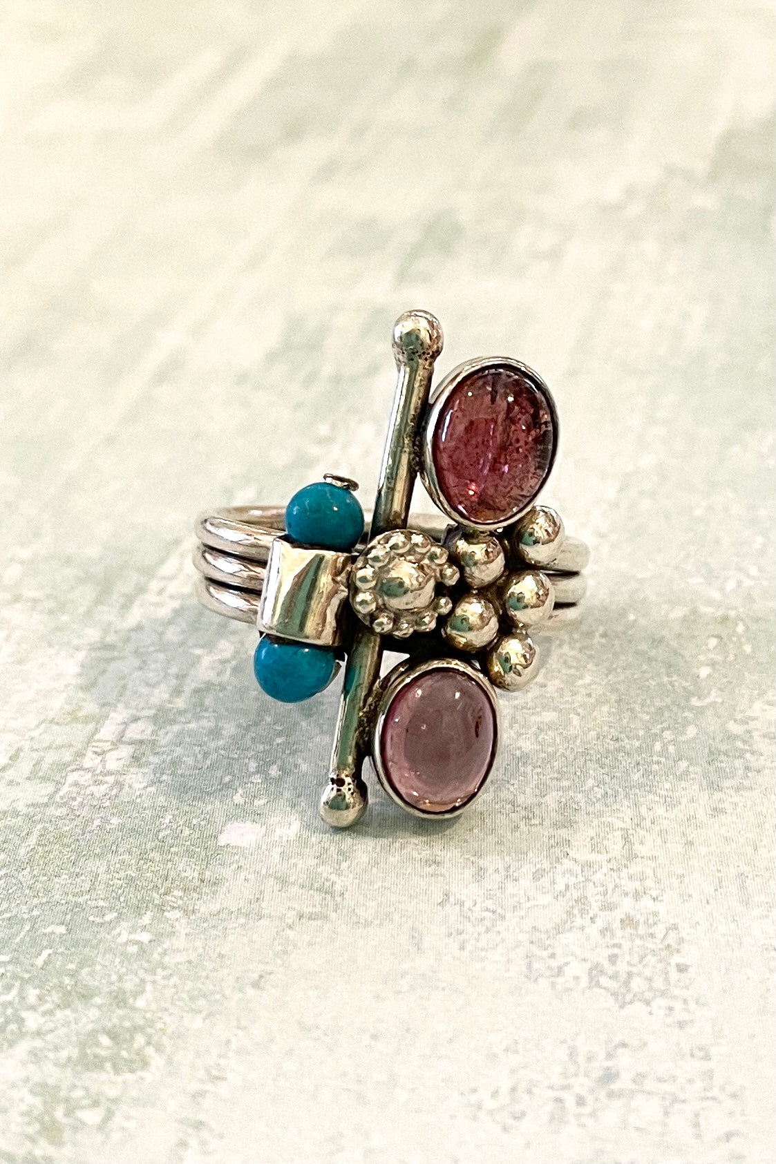 Echo Ring Tourmaline and Turquoise