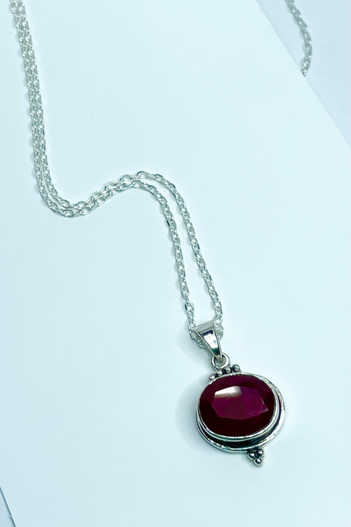 Oracle Pendant Orb Ruby Oval