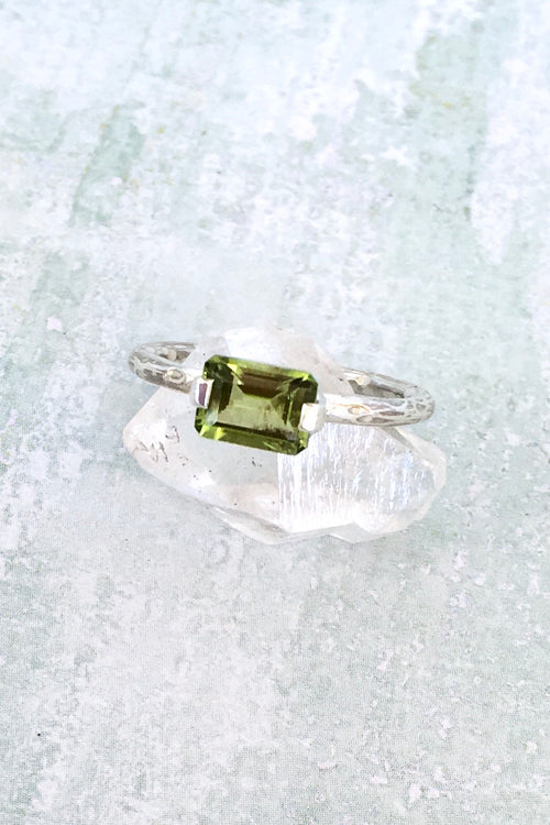 Oracle Peridot & Silver Ring