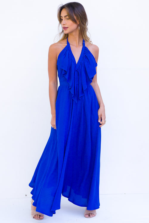 Belle Starr Maxi Dress Lapis Blue