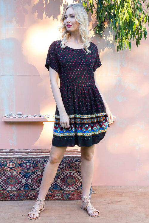 Blue Moon Inca Dress Black