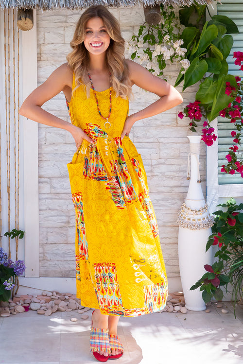 Bondi Beach Fez Yellow Dress