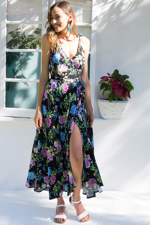 Byron Jungle Lily Maxi Wrap Dress
