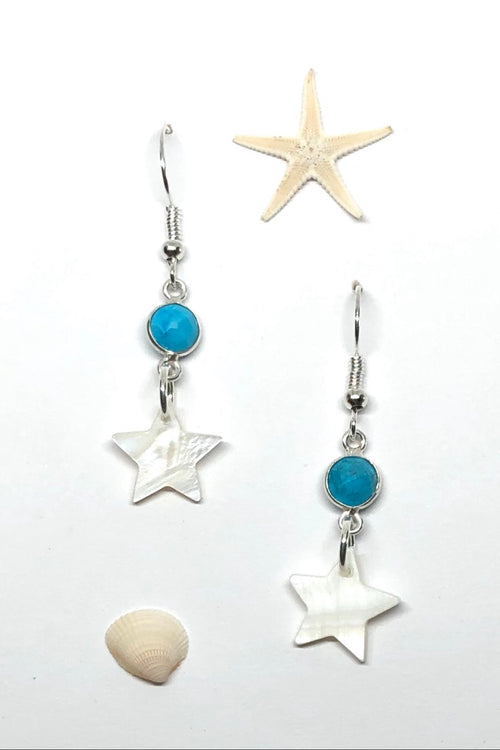 Earrings High Tide Tiny Shell Star