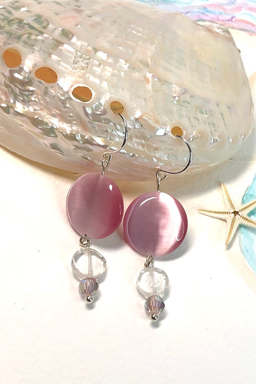 Earrings Serendipity Pink Moon