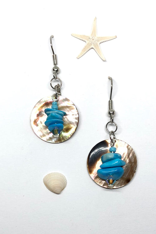 Earrings High Tide Shell Tiger Moon