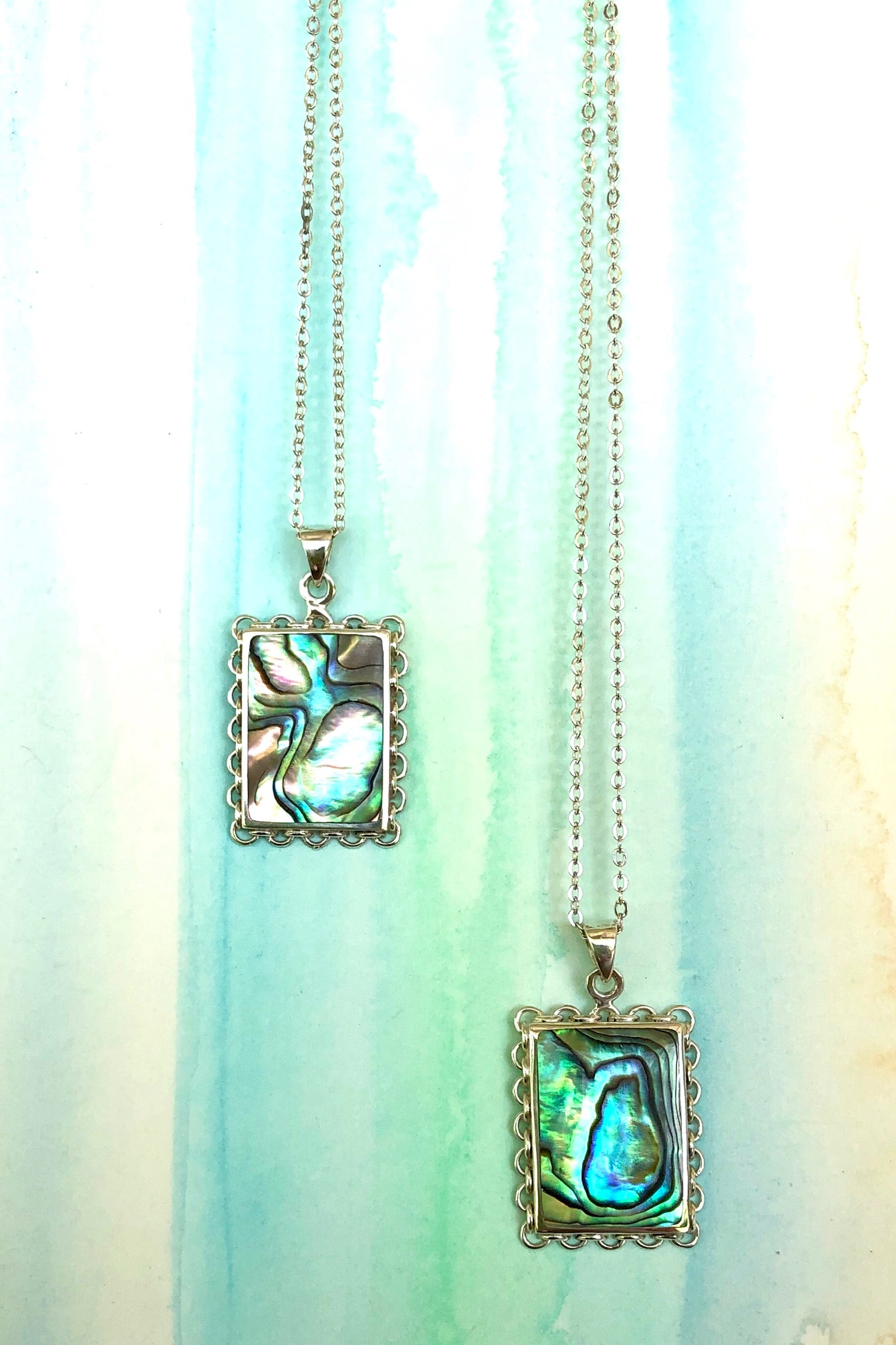 A beautiful handmade necklace with a mysterious Paua shell setting