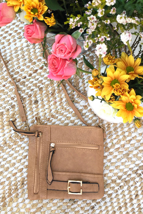 Bag Yeah Cross Body in Tan