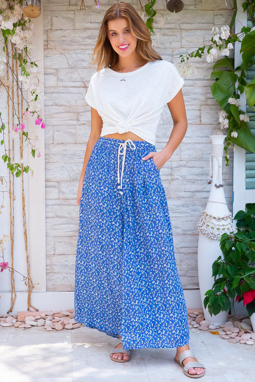 Catalina Agean Blue Maxi Skirt