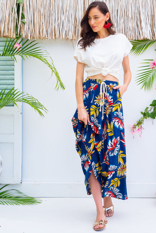 Catalina Inky Jungle Maxi Skirt