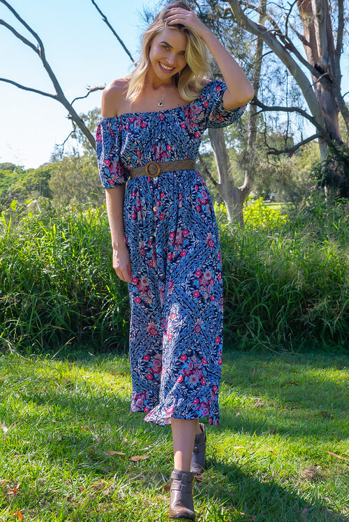 Cecelia Elderberries Maxi Dress