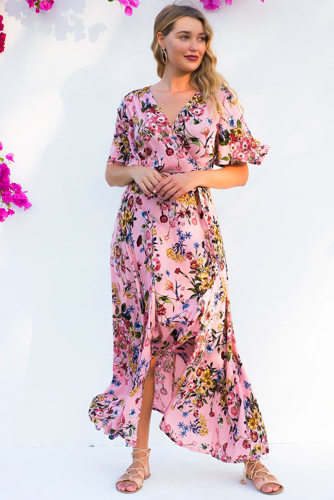 Cinnamon Pemberley Petal Wrap Maxi Dress - Restocked
