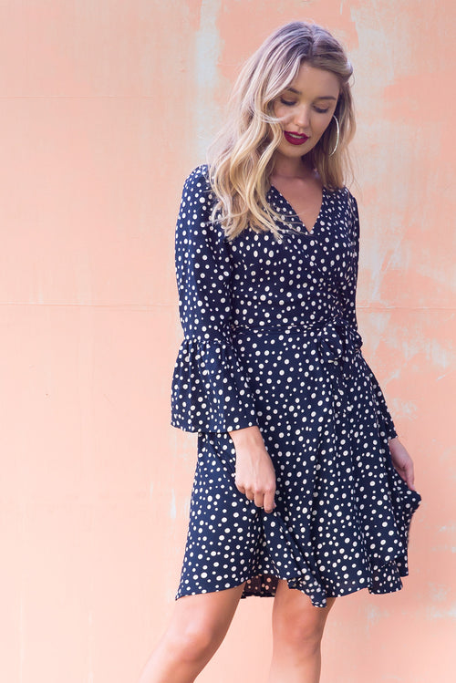 Claudia Wrap Dress Top Spot