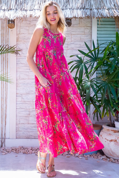Cloudland Pink Party Maxi Dress