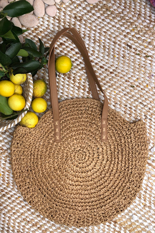 Bag Ava Pomona in Natural Straw