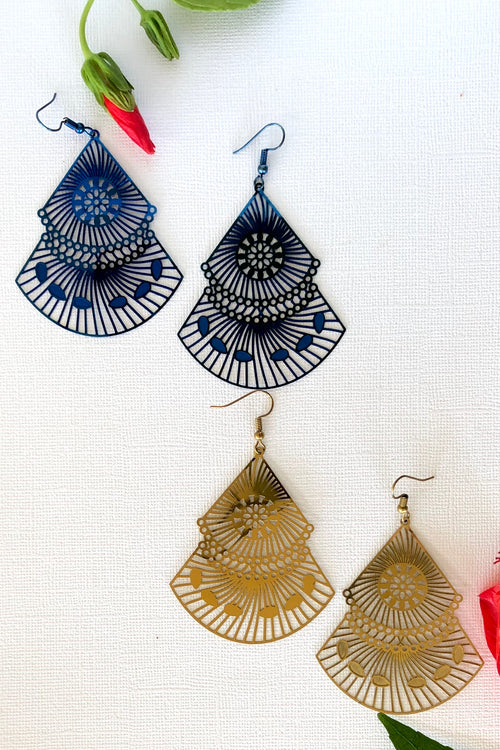 Earrings Flutter Fan - Two Styles