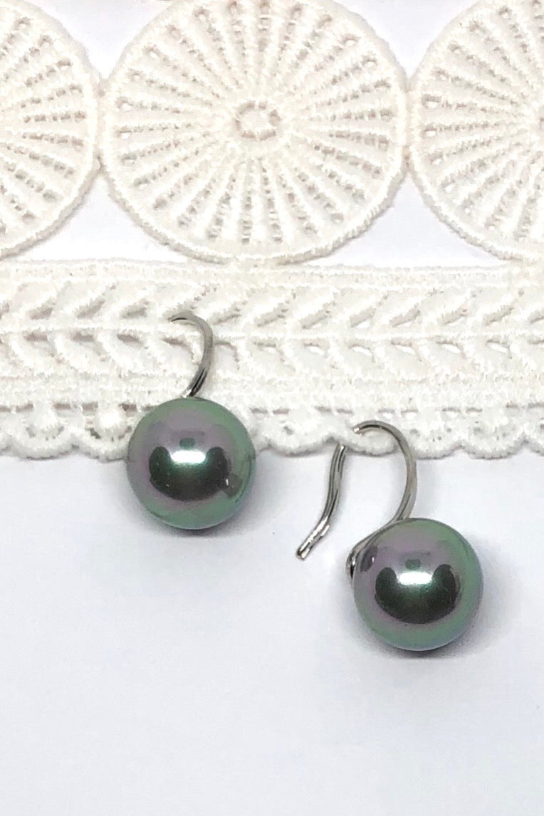 Earrings Ida Pearly Silver Ball | Dainty Hook Earrings in a Silver Colour | Ideal for the Whole Bridal party or any party