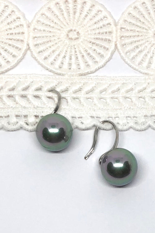 Earrings Ida Pearly Silver Ball