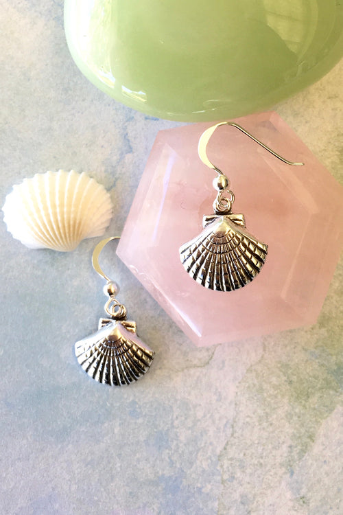 Earrings Cay Tiny Sea Shell in 925 Silver