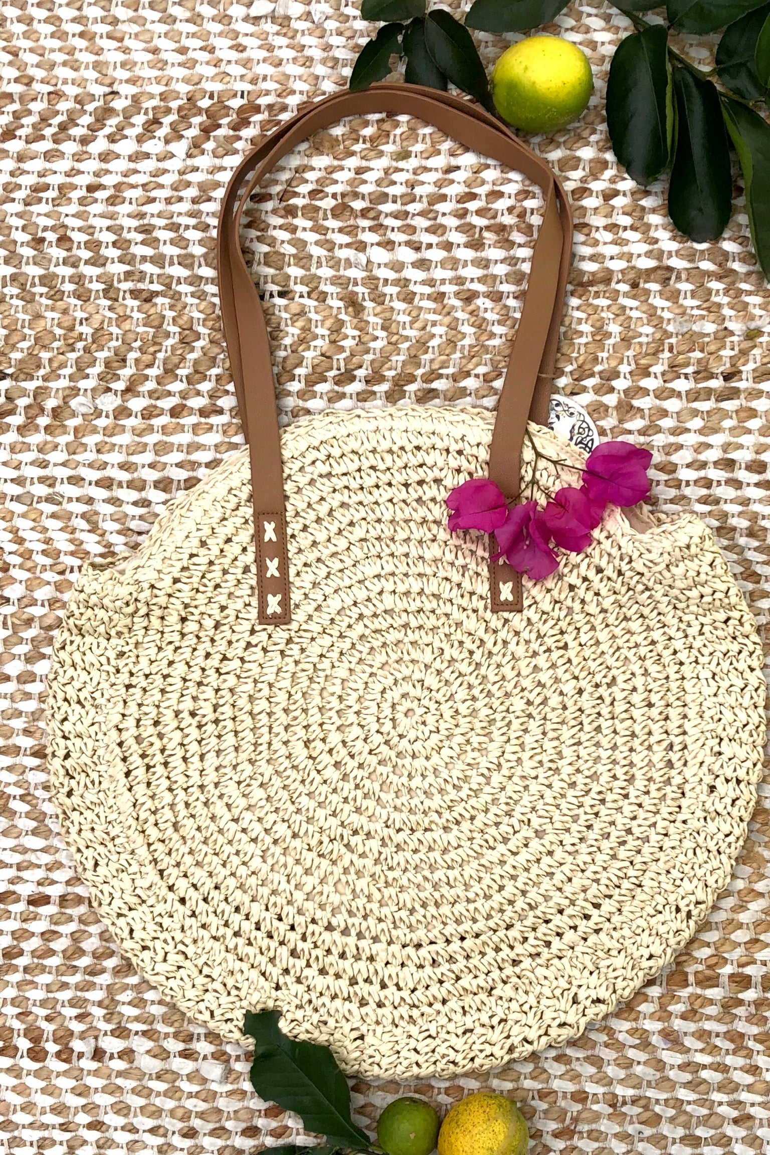 Bag Ava Pomona in Light Cream Straw