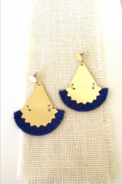 Earrings Y Cobalt Ziggy