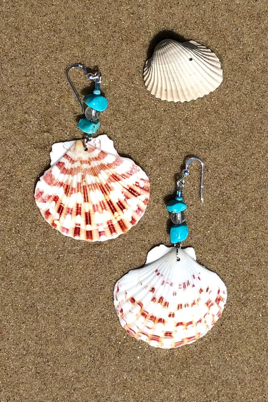 Earrings Cay Seashell Blues