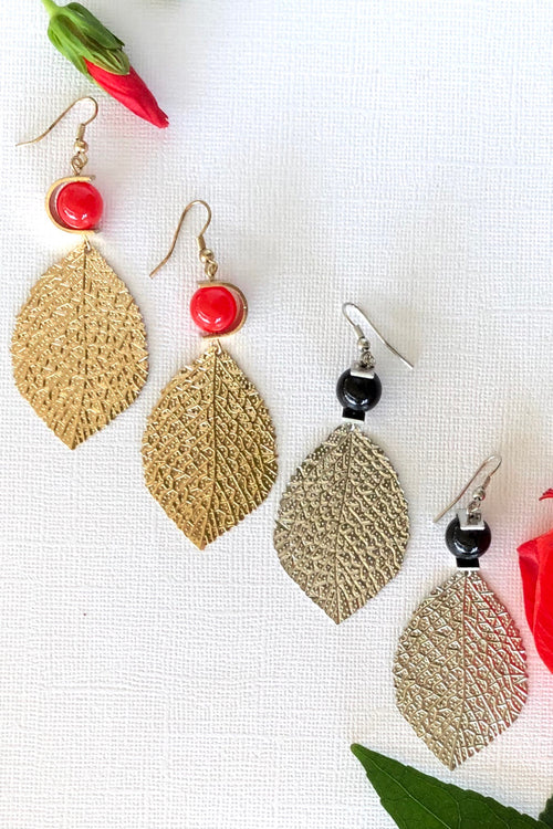 Earrings Metalia Leaf - Two Styles