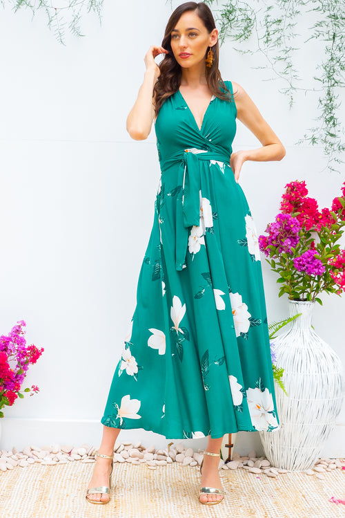 Darling Emerald Green Maxi Dress