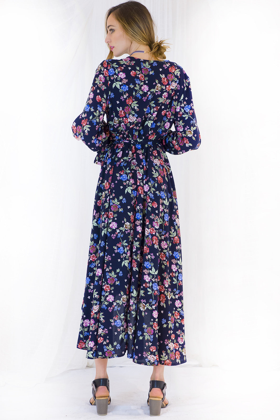 Daydreamer Flower Market Maxi Wrap Dress
