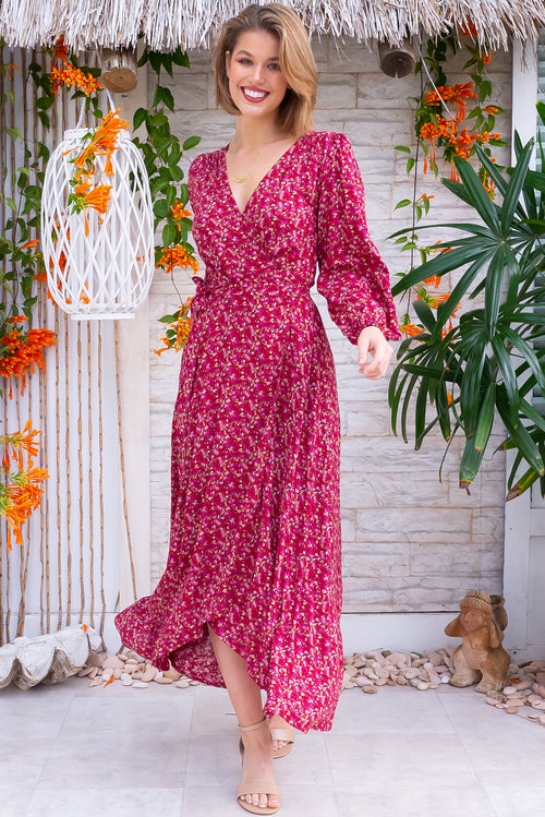 Daydreamer Rouge Maxi Wrap Dress