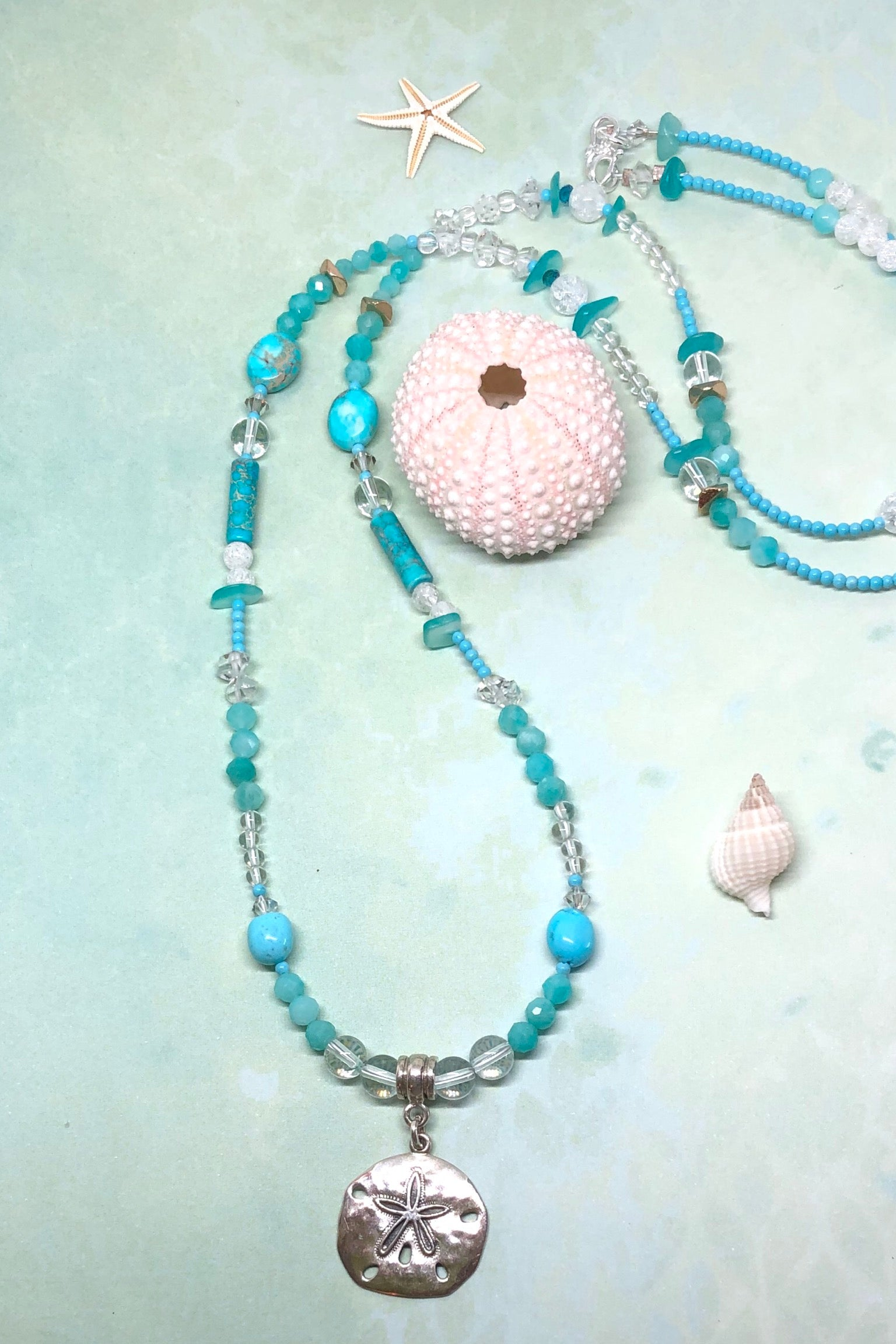 This necklace is a one off piece, the stones are all natural semi precious gems