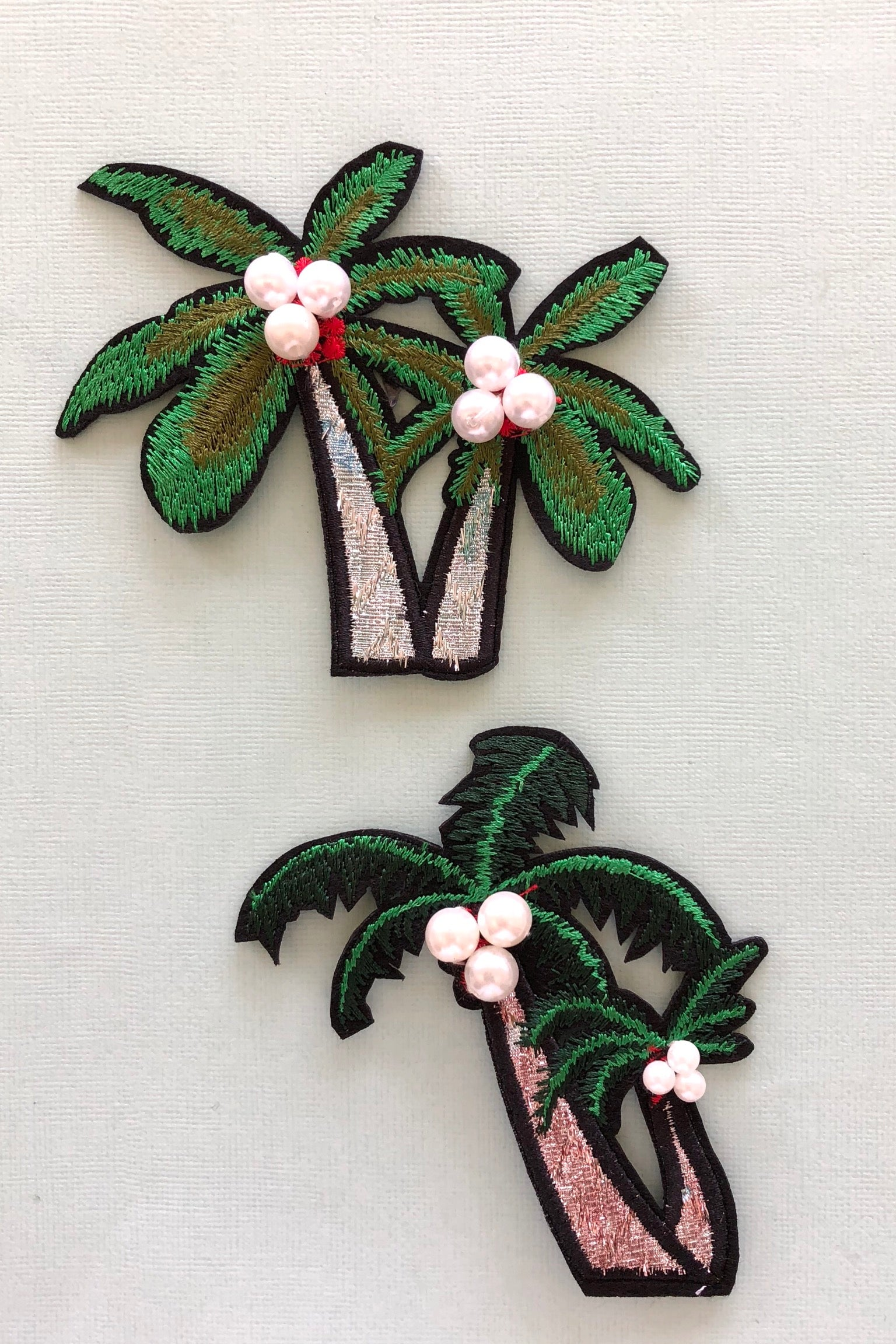 Iron on Motif Palm Trees, cute patch for denim jeans decoration