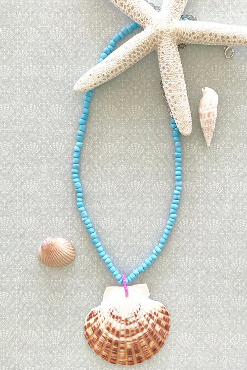 Necklace Summer Shell Turquoise