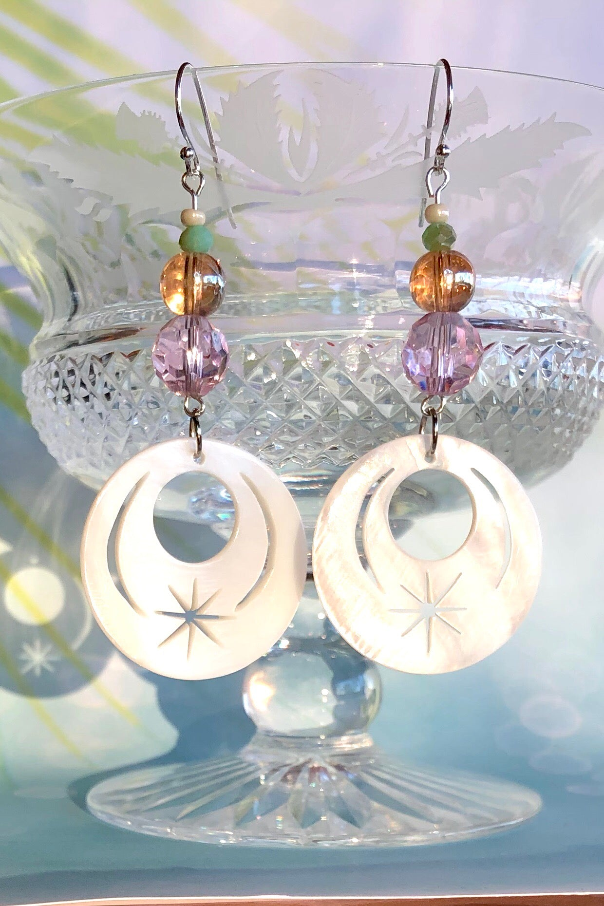 Earrings Serendipity Sunburst Pinky Gold