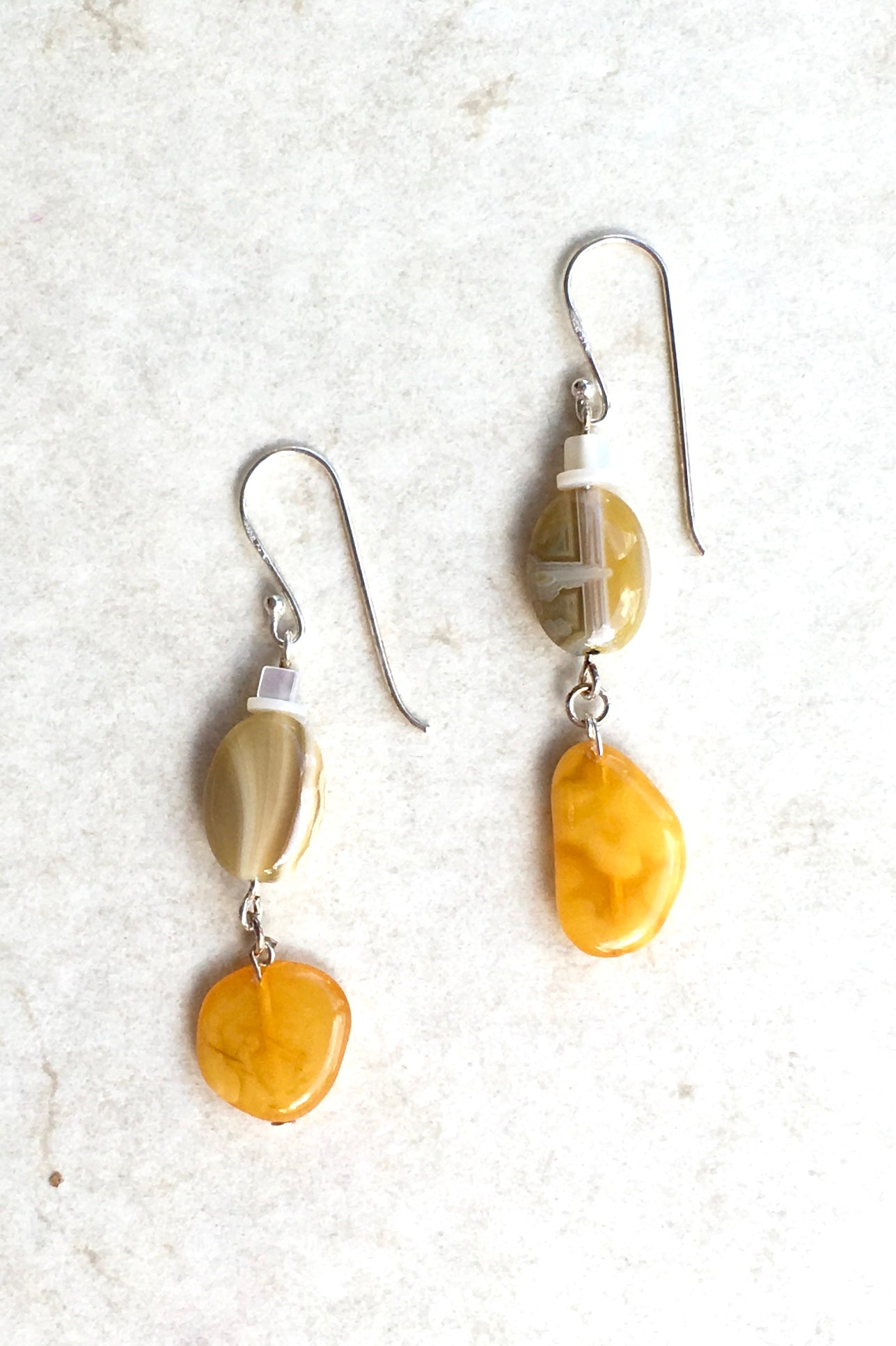 Earrings Samara Amber and Agate