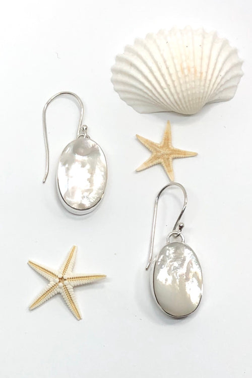Earrings Cay Ovaline Mother of Pearl