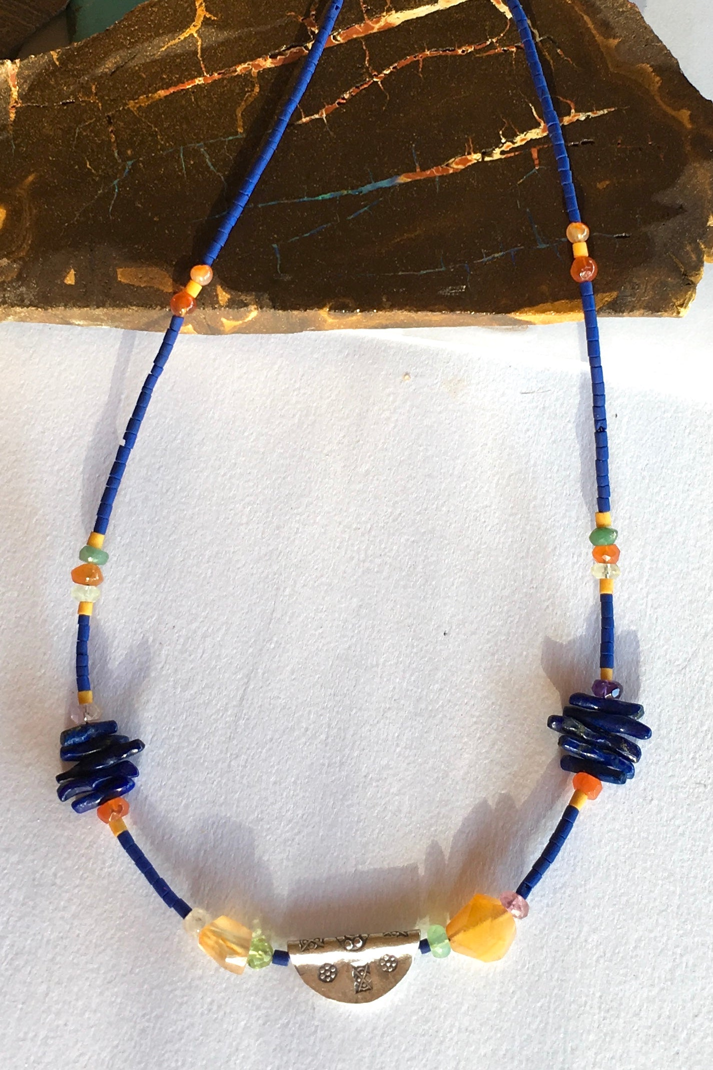 Necklace Cay Amulet with Lapis Lazuli