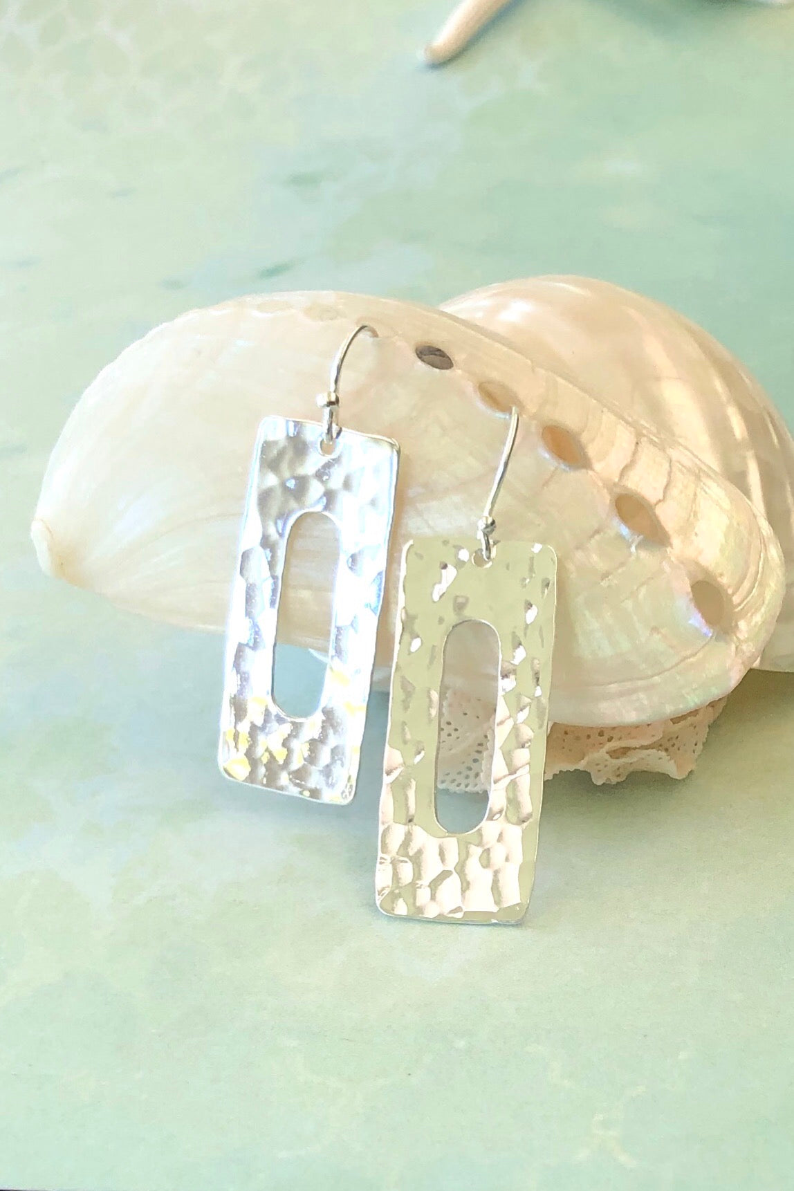 bohemian style the Earrings Sala Slice in 925 Silver are perfect for summer