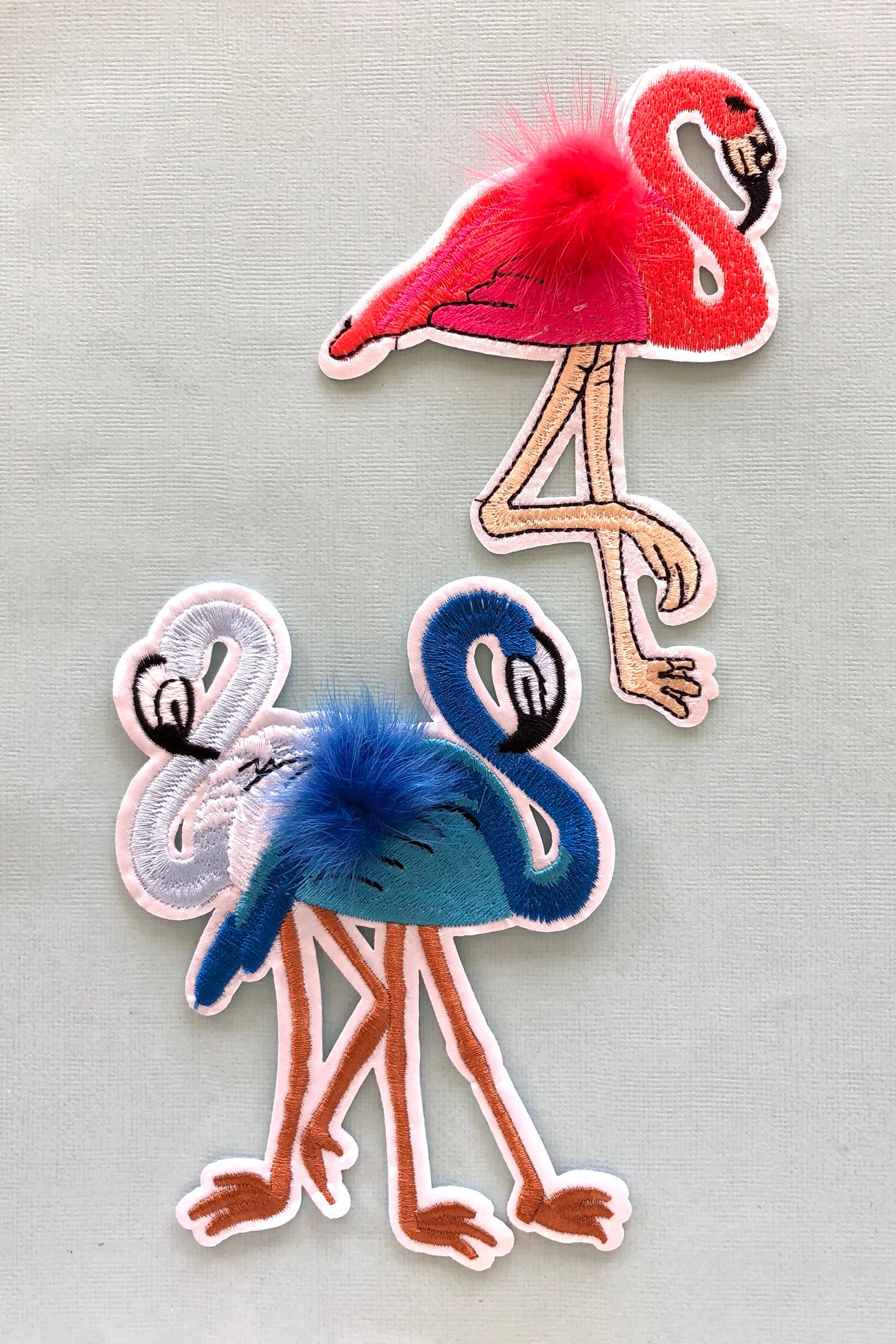 Iron on Motif Flamingo Colourful, cute patch for denim Decoration