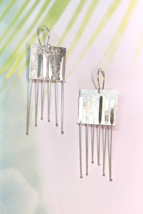 Earrings Sala Tribe in Laser Finish 925 Silver