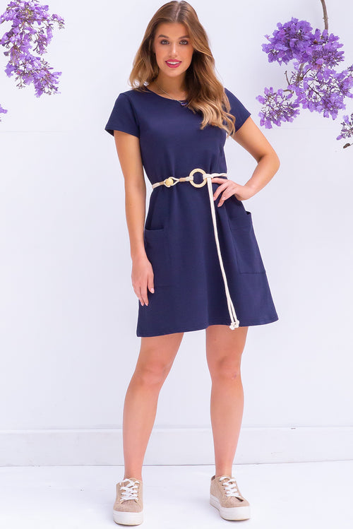 Elsa Nautical Navy Dress