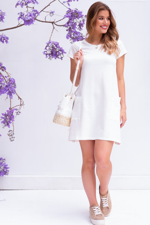 Elsa Pearl White Dress