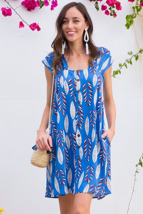 Etta Blue Boards Dress