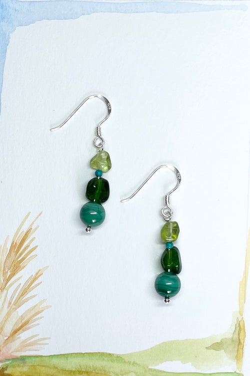 Earrings Samara Trio of Green