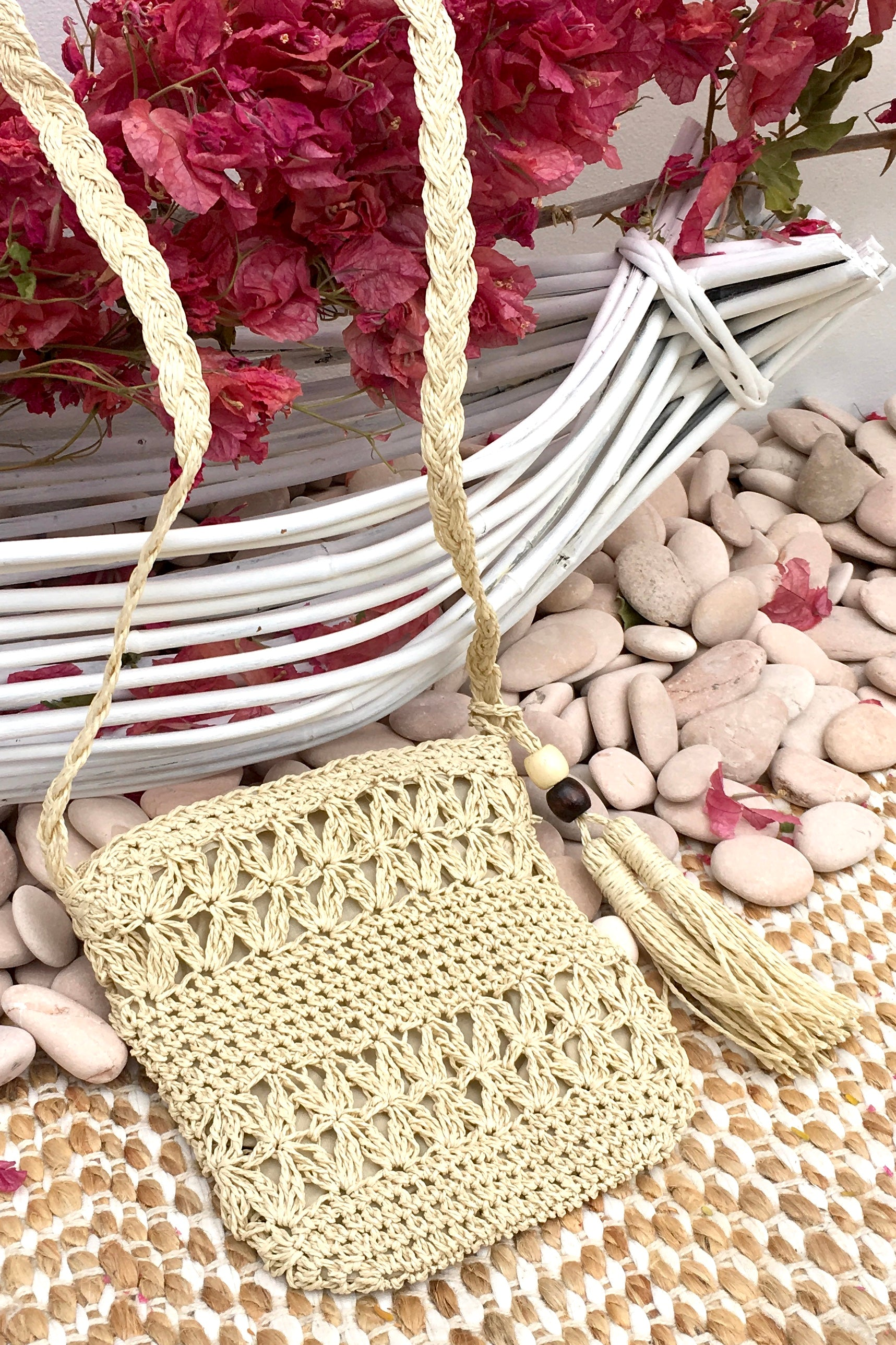 Bag Lillie Little Square in Cream or Biscuit